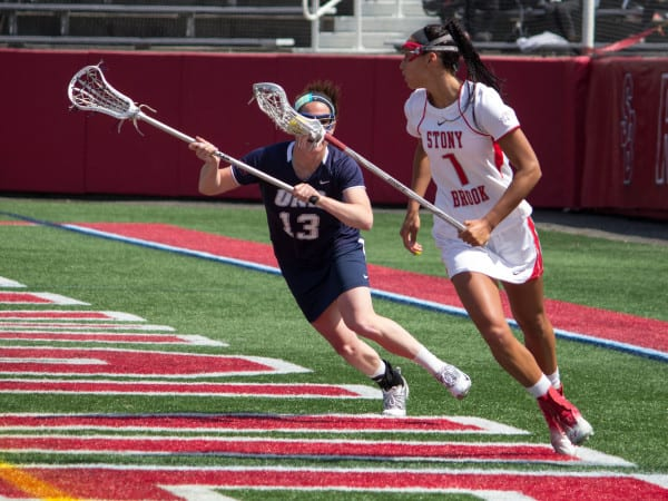 Michelle Rubino (above) and Courtney Murphy were essential to scoring the first few points for Stony Brook against the Wildcats, retaliating after goals from their opposition. MANJU SHIVACHARAN / THE STATESMAN
