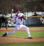 Chad Lee pitched 2.2 scorless innings in a  10-1 victory over UMass Lowell  on Sunday. MEGAN MILLER / THE STATESMAN