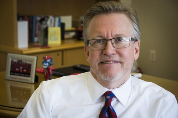 It was announced on Jan. 20, 2017 via email that Dean of Students Timothy Ecklund, above, had left Stony brook University. MEGAN MILLER /STATESMAN FILE