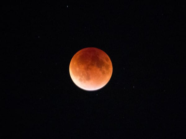 The super moon lunar eclipse on Sunday, Sept. 27, 2015. Multiple viewing events were organized, and students crowded the baseball field for a chance to see the moon up close through a telescope. MANJU SHIVACHARAN/THE STATESMAN